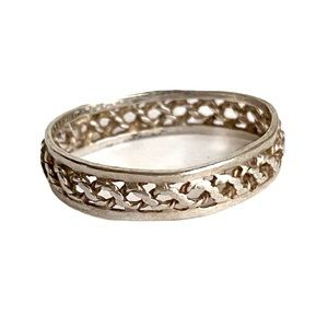 Vintage Sterling Silver Woven Braided Band Ring